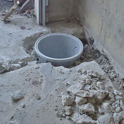 Placing a sump pit in a Hazel Green home