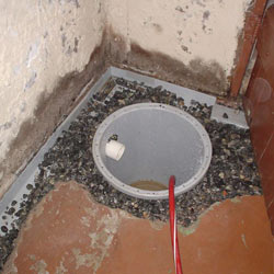 Installing a sump in a sump pump liner in a Madison home