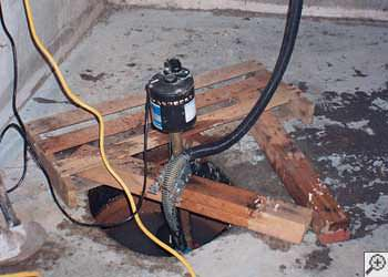 A Toney sump pump system that failed and lead to a basement flood.