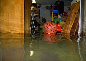 Flooded basement in Decatur