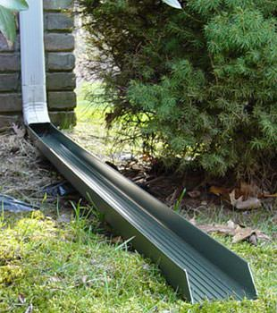 Gutter downspout extension installed in Fayetteville